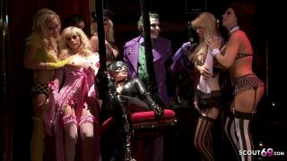 Batman Porn Parody Gangbang Group Sex Party with Cat woman