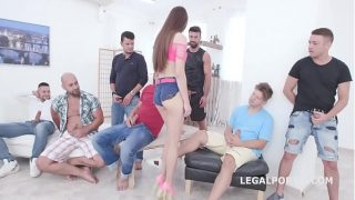 Creampie Evelina Darling Balls Deep Anal  Airplane Gapes Creampie and Swallow