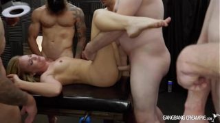 Gangbang Creampie – Naughty Blonde Fit Babe LOVING The Rough Creampies