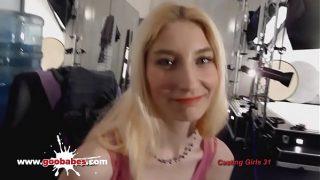 German Teen Girls Amateur Silke casting for hardcore gangbang