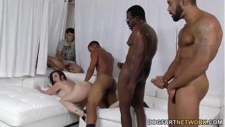 Slut Sara Jay Gangbanged by black dicks