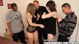 Two Teen BFFs Small Titties Bukkake Bang